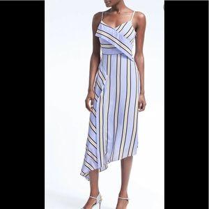 BANANA REPUBLIC STRIPE ASYMMETRICAL DRESS